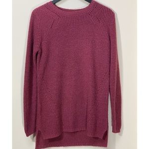 Merona Chunky Shimmer High Low Knit Sweater